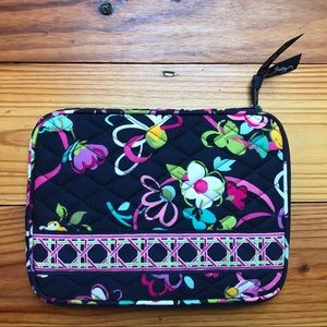 Vera Bradley Navy Pink Quilted Tablet Case, NWOT
